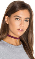 Natalie B x REVOLVE Kate Modele Lace Choker in Red.