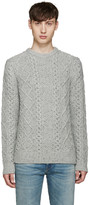 Levi's Grey Cable Knit Fisherman Sweater