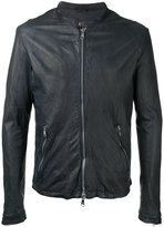 Giorgio Brato zipped jacket - men - Leather/Nylon - 48