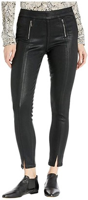 Paige Talita Zip Ultra Skinny Jeans in Black Fog Luxe Coating (Black Fog Luxe Coating) Women's Jeans