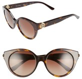 Tory Burch Women's 52Mm Cat Eye Sunglasses - Tortoise/ Polar