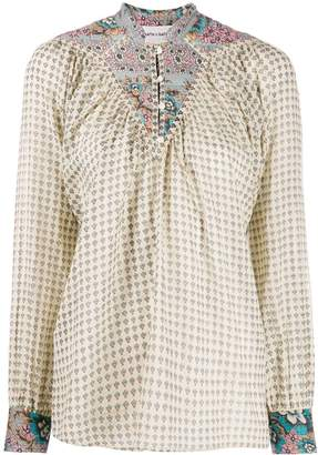 Antik Batik mixed-print tunic blouse