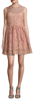 RED Valentino Silk Lace Embroidered A Line Dress