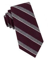 Black Brown 1826 Textured Stripe Tie