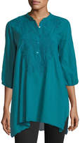 Johnny Was Minda Embroidered Voile Tunic