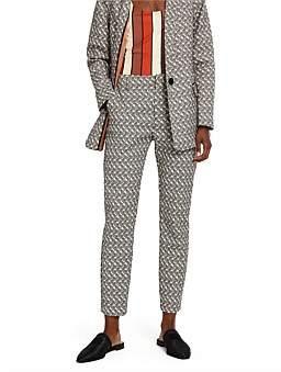 Scotch & Soda Tailored Pants In Jacquard Pattern