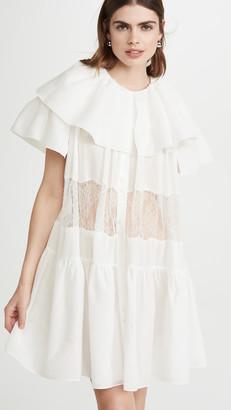 GOEN.J Lace Trimmed Tiered Mini Dress