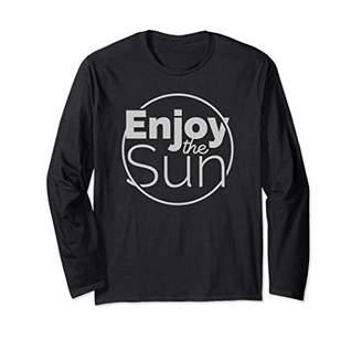 Vintage Summer tee - Enjoy the Sun - Good Vibes Happy gift Long Sleeve T-Shirt