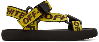 Off-White SSENSE Exclusive Yellow Micro Trek Sandals