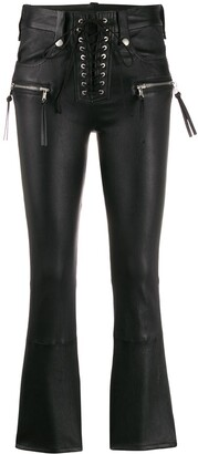 Unravel Project Flared Cropped Trousers