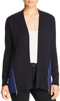 Magaschoni Color-Block Zip Cashmere Cardigan