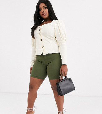 Junarose slim shorts in khaki