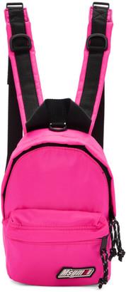 MSGM Pink Mini Logo Backpack