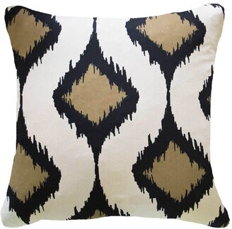 Bandhini Inner Ikat Cluster Black Lounge Cushion
