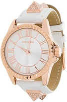Steve Madden Women's Analog Crystal Leather Strap Watch