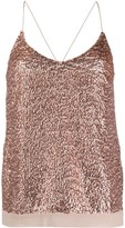 Semi-Couture Semicouture sequin-embellished sleeveless top