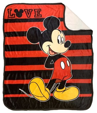 Mickey Mouse Mickey Love Sherpa-Backed Throw