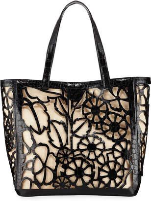 Nancy Gonzalez Floral Laser-Cut Tote Bag