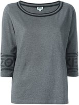 Kenzo scoop neck T-shirt - women - Cotton - L