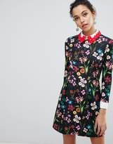 Ted Baker Tillena Skater Dress with Embellished Collar