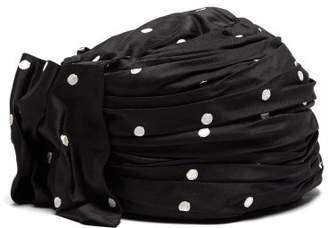Maison Michel Polka-dot Print Turban Hat - Womens - Black