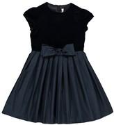 Il Gufo Bow Velvet Dress