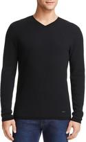 Armani Collezioni Textured V-Neck Sweater