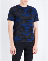 Sandro Camouflage-print Cotton-blend T-shirt