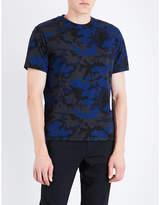 Sandro Camouflage-print cotton-blend T-shirt