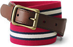 Classic Men's Club Stripe Elastic Surcingle Belt-Compass Red Stripe