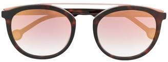 Carolina Herrera Round Frame Sunglasses