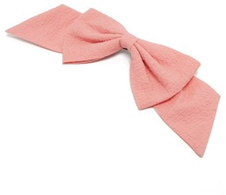 Emilia Wickstead Knightsbridge Bow Crepe-cloque Hair Clip - Pink