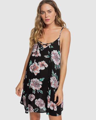 Roxy Womens Printed Beach Classics Strappy Dress