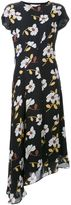 Marni asymmetric draped floral dress - women - Silk - 40