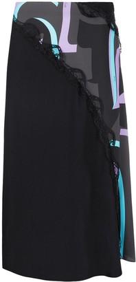 Emilio Pucci x Koche side slit panelled skirt