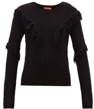 Altuzarra Buckeye Fringe-trim Sweater - Womens - Black