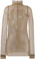 Rick Owens Lilies tulle long sleeve top - women - Polyamide/Spandex/Elastane - 40
