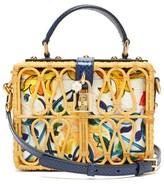Dolce & Gabbana Dolce Box Rattan Box Bag - Womens - Multi