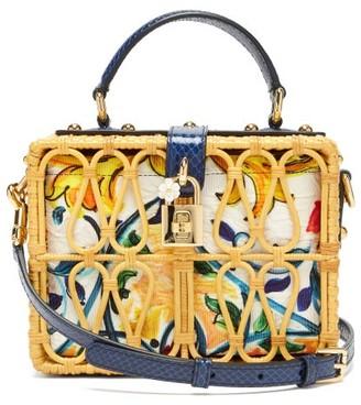 Dolce & Gabbana Dolce Box Rattan Box Bag - Multi