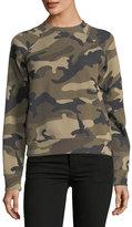 Valentino Camouflage Ponte Crewneck Sweatshirt
