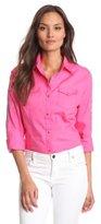 Wrangler Women's Fashion Long Sleeve Tailored Fit Shirt