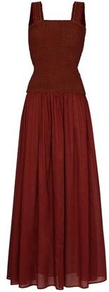 Escvdo Gala smocked-panel maxi dress