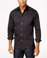 Sean John Men's Zip-Pocket Big and Tall Flight Shirt