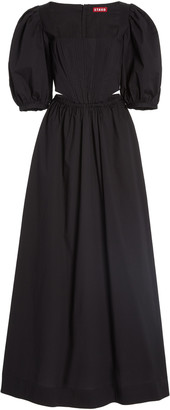 STAUD Astro Cotton-Poplin Maxi Dress