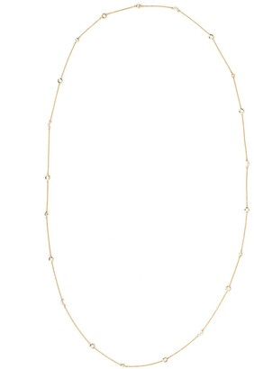 Monica Rich Kosann 18kt yellow gold diamond Sun Moon Star wrap necklace