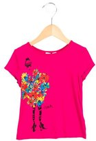 Junior Gaultier Girls' Floral Print Short Sleeve Top w/ Tags