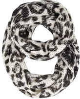 Dorothy Perkins White leopard knitted snood