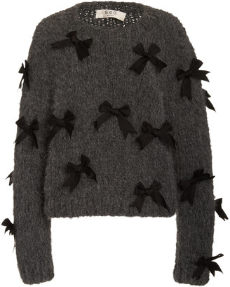 Sea Pippy Bow-Embellished Wool Sweater