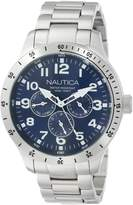 Nautica Men's N14672G BFD 101 -Tone Stainless Steel Bracelet Watch