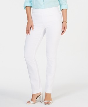 Charter Club Cambridge Skinny Pull-On Tummy-Control Pants, Regular and Short Lengths, Created for Macy's